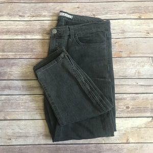 J Brand gray super skinny zipper ankle jeans 28x29